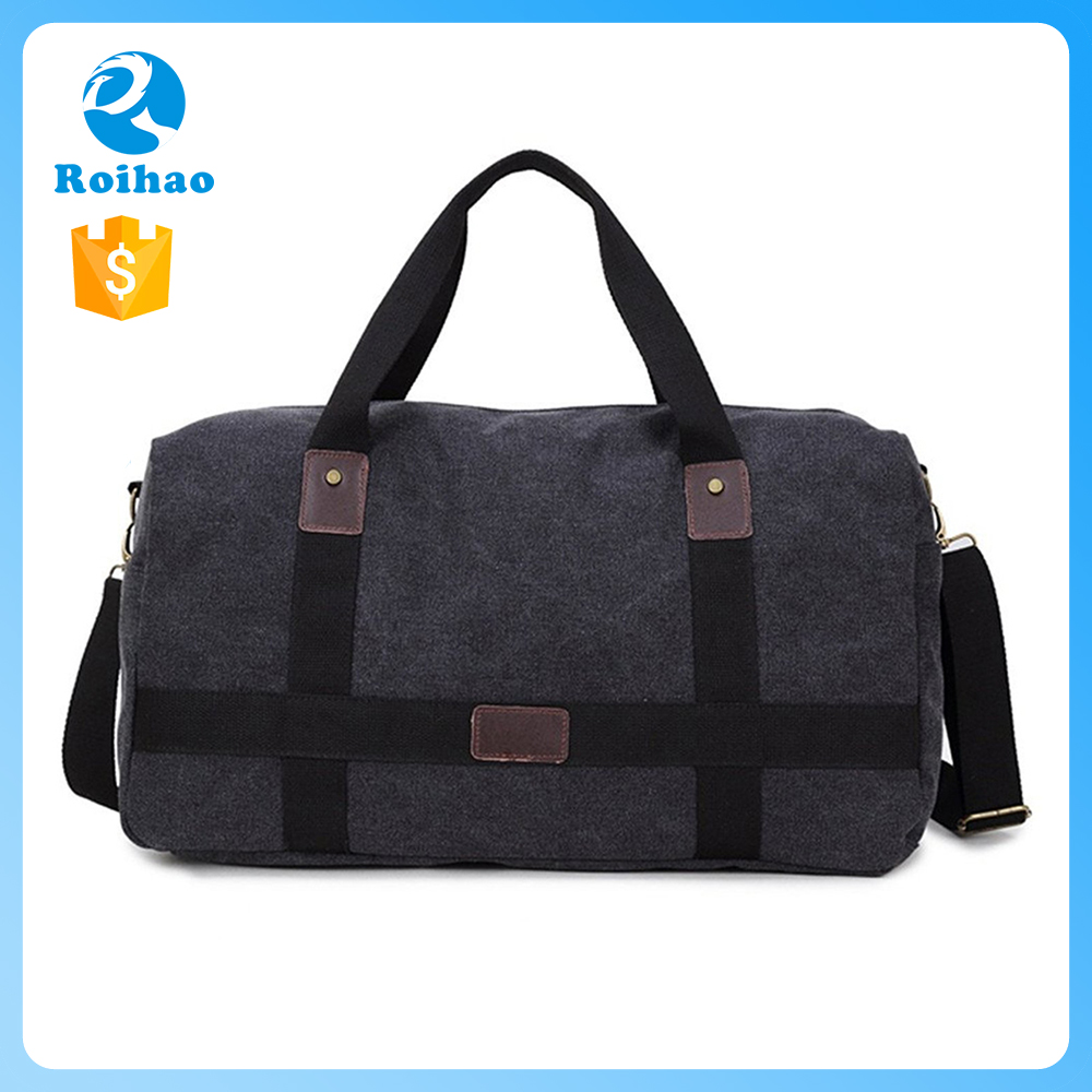Roihao travel durable custom weekend bag, canvas duffle bags sport
