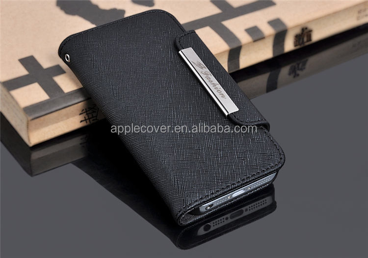 Wallet Design case for i phone5, for iphone 5 s genuine leather