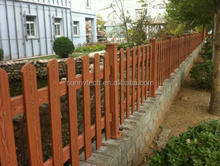 Wood Grain Rodent Proof Long Timelife Eco Friendly Products Garden Use Outdoor WPC Fence ,Partition Railing Panels