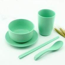 Alibaba hot sale BPA free biodegradable bamboo fiber tableware sets