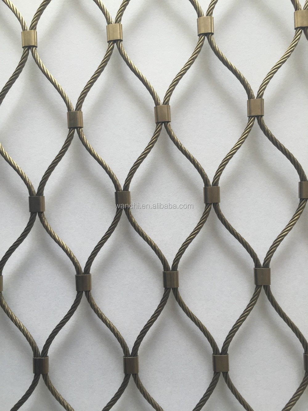 ss 1-6mm metal dimond rope mesh netting/zoo animal wire cages mesh(factory price)