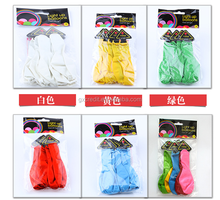 Decorative colorful inflatable helium LED balloons made with natural latex