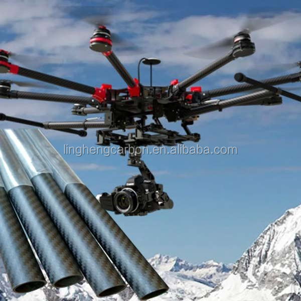 Roll Wrapped Carbon Fiber Tube 3K 32mm*30mm*500mm Quadcopter RC Airplane
