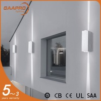 6w waterproof IP54 decorative black / silver led wall modern outdoor lighting