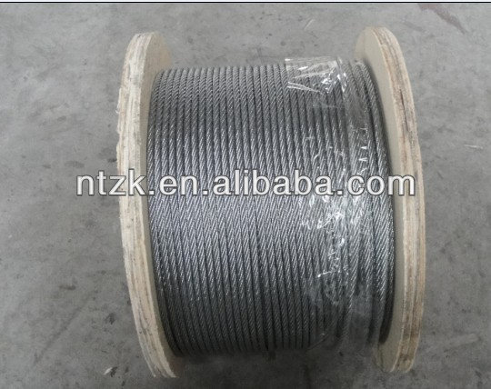 galvanized and ungalvanized steel wire rope for foreign trade