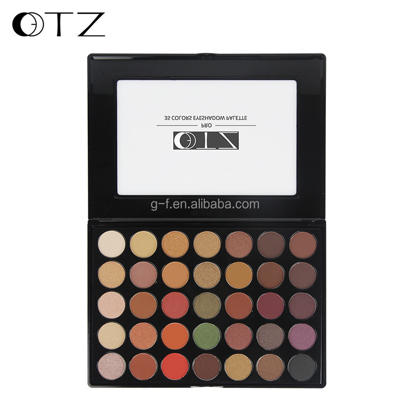 TZ cosmetics 35 Color Eyeshadow Palette Silky Powder Professional Make up Pallete