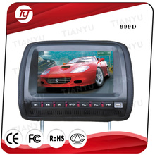 Touch screen 9 inch HD Digital Screen Car Headrest Monitor + DVD/USB/SD Player Head support