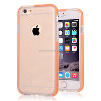 slim clear crystal transparent flexible TPU shockproof gel bumper case cover for iPhone 6/ 6 plus