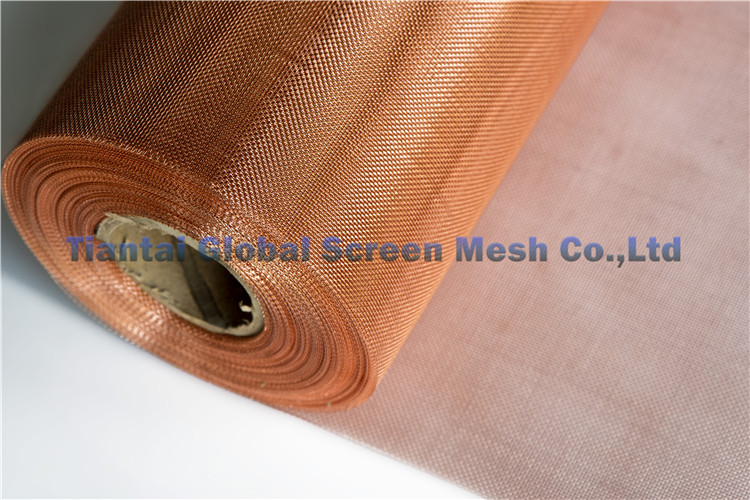 Copper Wire Mesh Red Woven Brass Wire Mesh