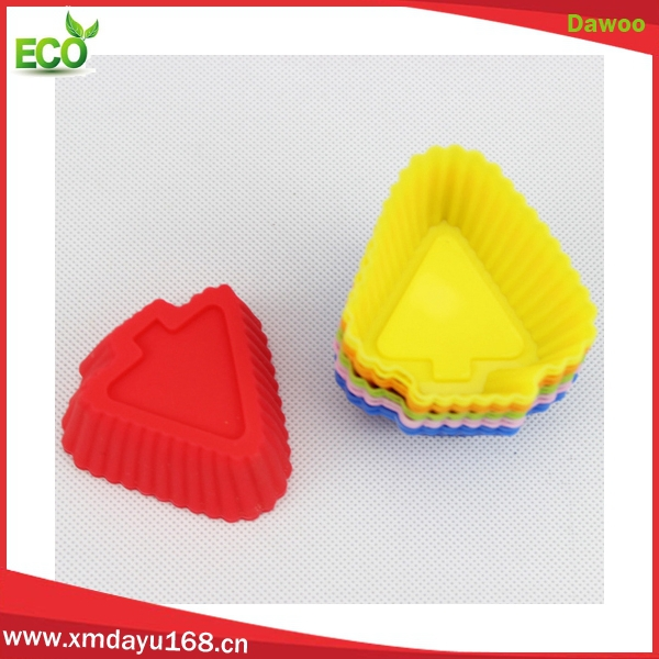 Food grade christmas tree shape silicone cupcake mould