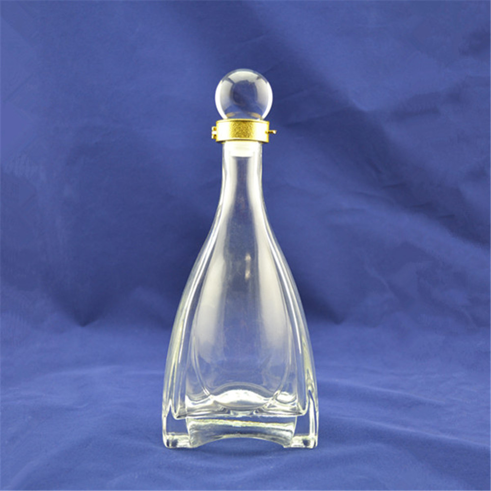 Premium factory wholesale empty clear antique looking glass bottle