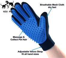 Solf Silicone Massage Pet Bath Glove / Durable right hand Pet Glove Brush for Dog and Cat