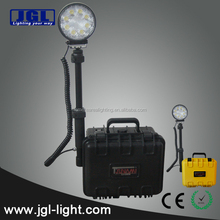 rechargeable remote area emergency searchlight battery powered led rope work light construction light tower generator