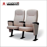 The best space saver! LEADCOM chair for worship, optional wood or upholstered back (LS-6619/ 6619A),