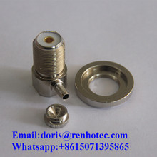 UHF Coaxial Connectors Right Angle Soleded Female RF Adapter For Cable RG58 RG59