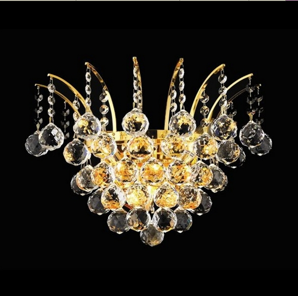 Hotel bedroom light Wall Sconce with K9 crystals outdoor wall lamp