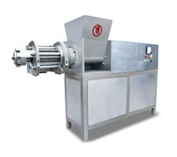 machine for cutting and deboning chicken thighs