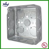 "UL Listed 4"" Square Metal Electrical Terminal Box"