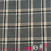 10%/90% Wool Polyester Blend 550g/m Twill Plaid Woolen Fabric for Garment