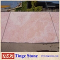 Natural backlit pink onyx marble slab