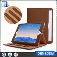 Hot Factory Price For iPad 5 Flip Tan tab Pu Leather Tan Case For iPad air With Stand Tablet Case Flip Cover For iPad Air