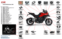 Motorcycle carbon fiber parts body parts for Ducati Multistrada 1200