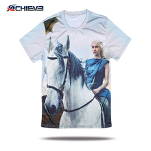 custom casual t shirts sublimation round neck ladies t shirt polyester dri fit fishing t shirts
