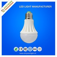 Sinywon China manufacturing 12v led bulb e27 3w 5w 7w energy saving cheap PC 3w 7w 9w 12w e27 e14 led bulb lighting