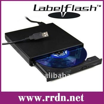 Slim portable dvd external dvd rw drive GT20F optical drive Labelflash