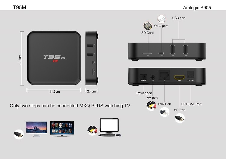 Soyeer New design t95m tv box S905X 2+8G better than T95N T95X
