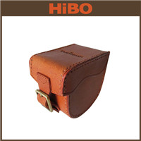 2015 Tourbon Durable Fishing Bags Vintage Brown Genuine Leather Fly Fishing Reel Case