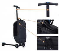 PC/EVA luggage 2-wheel stand up electric scooter with 3 wheels