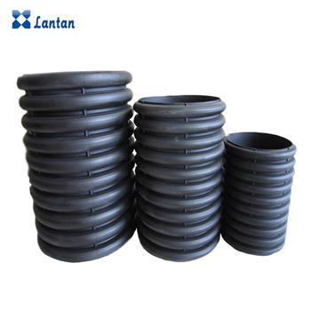 Manufacturer direct sales 400mm HDPE pipe with double wall corrugated for Drainage sewage.