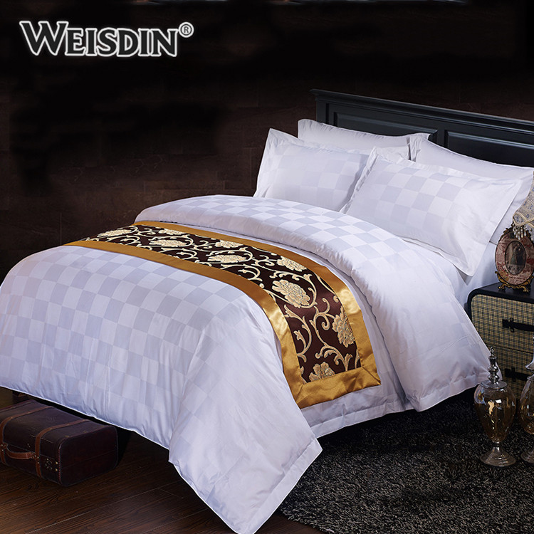 Wholesale comforter sets bedding hotel luxury cotton jacquard Guangzhou bed in a bag bedding sets