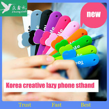 Promotional Gift mobile phone 3m sticky silicone card holder