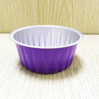 Hot saling colourful smooth wall aluminium foil container
