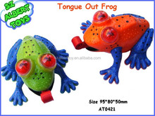 plastic quick tongue squishy frog new products 2015 innovative product