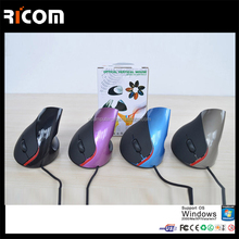 5 Buttons Computer Optical Vertical Wired Mouse ,vertical computer usb gamer mouse,wholesale gaming mouse