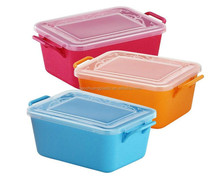 Easy carrying plastic heating mini electric lunch box for kids food warmer