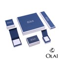 China Luxury rigid collapsible custom white Jewelry gift paper box