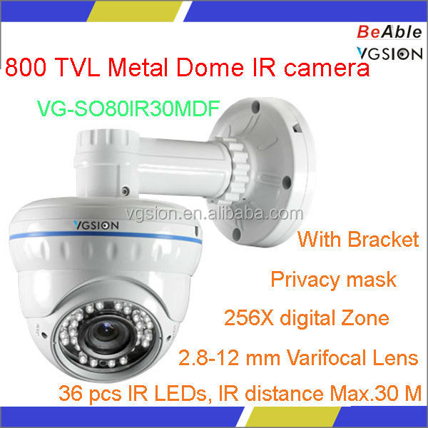 Come with big bracket high quality Metal dome Effio-V WDR 800tvl camera
