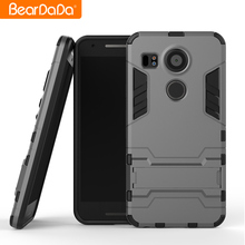 Popular Style tpu pc kickstand mobile phone case for lg nexus 5x back cover
