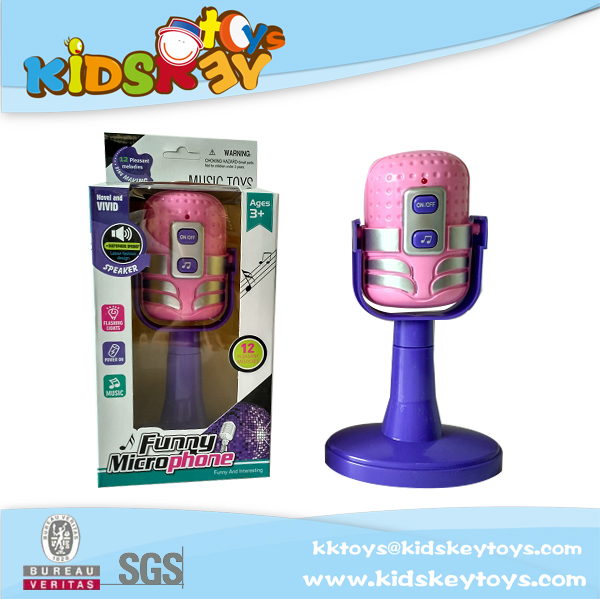 Hot selling battery operated kids toy microphone Music a toy microphone with music, lighting