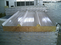 Good quality heat insulation and fast easy installation rockwool sandwich panel for roof and wall
