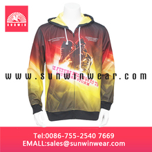 Custom sublimation print hoodies/sweatshirts, sublimated hooded sweatshirts for men
