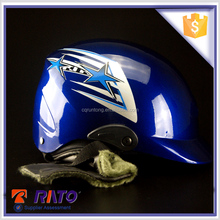 Bule PP plastic cheap open face motorcycle helmets