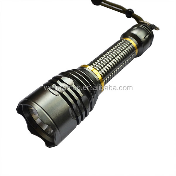 best sell powerful hunting green led flashlight