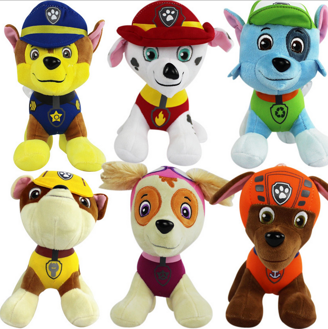 Newest Children`s Gift Cute 13cm Cartoon Dogs Plush Toys Soft Kids Cartoon Peluche Figure Dolls