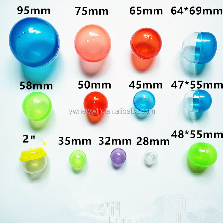 Assorted Types empty 1 Inch Vending Capsule Toys for Vending Machines -27 mm