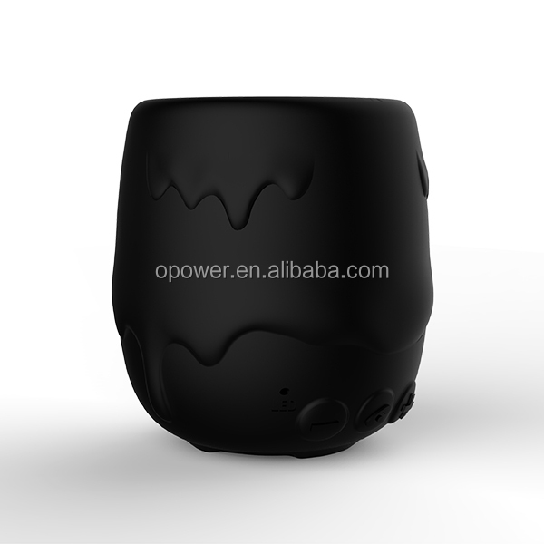Melting Icecream Design Loudspeaker Bluetooth with Soft Silicone Housing+Rubber oil